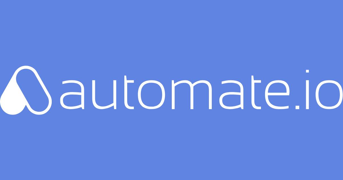 image Automate io